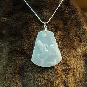 Antique chinese Jadeite necklace